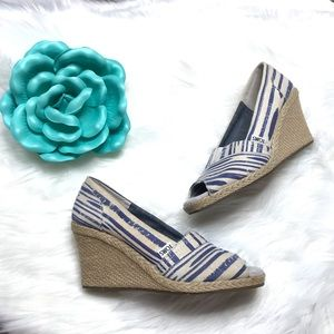 Toms Peep Toe Wedge